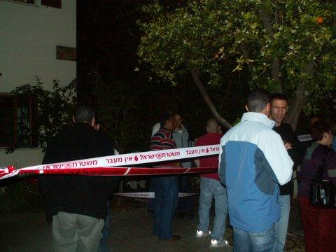 זירת הרצח של ענת פלינר, יום שני 09 אפריל 2006